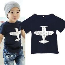 Cartoon Baby/Kids Boys T-Shirt Short-Sleeved Plane Tees Cotton Tops 2 Colors M26