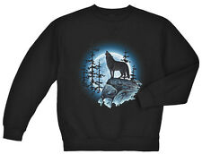 Wolf Moon sweatshirt sweater crewneck Men's lone wolf howling at the moon design