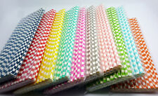 75 Colored Paper Drinking Straws Square Pattern Straws Wedding Birthday Party