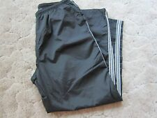 Black FOOT LOCKER Sweatpants NYLON Mens 2XL Open Bottom Zipper Leg POCKETS XXL