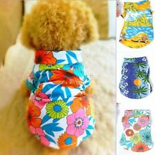 Fashion Pet Dog Hawaiian T-Shirt Apparel Clothing Beachwear XS/S/M/L/XL Clothes