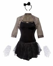 80s Pop Star Fancy Dress Ladies 1980s Madonna  Womens Costume Outfit 8 10 12 14
