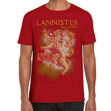 Game of Thrones Lannister Hear Me Roar Red Adult T-Shirt