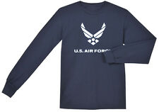 US Air Force shirt Men's long sleeve navy blue USAF t-shirt air force wings