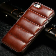 Luxury Ultra thin Vintage Leather Case Fitted Back Cover Skin For iPhone 5 5S