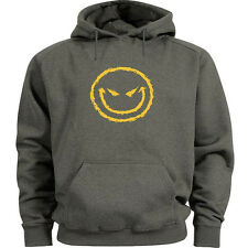 Funny hoodie evil smiley face grin Men's size hoodie sweat shirt hoody sweats