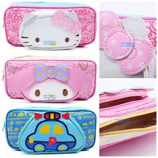 JAPAN SANRIO HELLO KITTY MY MELODY RUNABOUTS HEAD PATCH PU ZIPPER PENCIL BAG