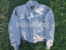 Made in US Alpha Industries CWU-45P Army Military Pilot Bomber Flight Jacket XXL