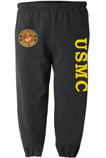 USMC sweatpants Men's size us marines sweats marine corps sweat pants dark gray