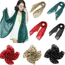 Fashion Korea Chiffon Women Lady Polka Dot Print Long Scarf Shawl Wraps Pashmina