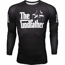 Scramble BJJ THE GODFATHER RASH GUARD JIU JITSU MMA UFC RASHGUARD Compression