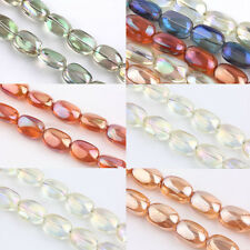 5/10Pcs Stone Shape Crystal Glass Charms Loose Spacer Beads Findings 10x5mm DIY