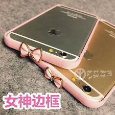 New cool Cute pink bow metal Frame Diamond case Cover for apple iphone6 6S plus