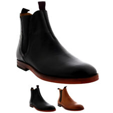Mens H By Hudson Tamper Leather Elastic Smart Work Evening Chelsea Boots UK 6-12