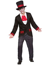 Mens Edwardian Victorian Vampire Gothic Fancy Dress Costume Groom Wedding Suit
