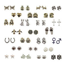 STERLING SILVER STUD EARRINGS - 30 DIFFERENT DESIGNS - SUPPLIED BOXED