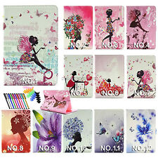 """For 2015 new ipad mini 4 7.9"""" pu leather case flowers butterfly Bling Diamond"""