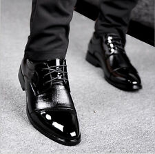 Men Business Dress Formal Shoes Patent Leather Comfy Oxfords Party Wedding Shoes