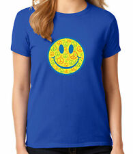 Peace Smiley Face Ladies Emoticon T-shirts, Emoji Women's Tees - 1002C