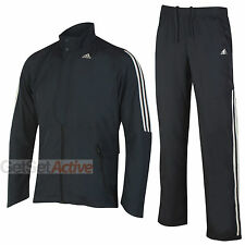 adidas Mens Performance Nightshade Black climalite Woven Open Hem Full Tracksuit