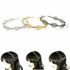 Metal Leaf Crystal Rhinestone Headband Hairband Hair Piece Accessory Fashion New