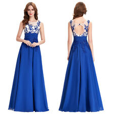 Grace Karin Lace Long Bridesmaid Formal Evening Party Wedding Gown Prom Dresses
