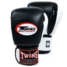 Twins 2 Tone Black/White Boxing Gloves Muay Thai Boxing Gloves Twins Special UK