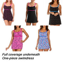 Catalina Womens Swimdress Retro Empire Ruched POLKA Halter YOU PICK SIZE & STYLE