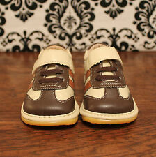 Brown & Tan Velcro Toddler Boys Sneaker Squeaky Shoes, Sizes 3, 4, 5, 6, 7, 8, 9
