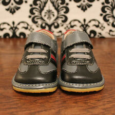 Black and Gray Toddler Boy Sneaker Squeaky Shoes, Sizes 3, 4, 5, 6, 7, 8, 9
