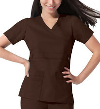 Scrub Dickies Gen Flex Youtility Mock Wrap Top 817355 Chocolate FREE SHIPPING