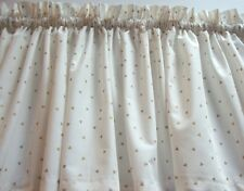White with Gold Triangles Valance Window Treatment for Any Room Custom Made