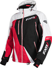 FXR Mens Black/Red/White Weave Snowmobile Mission Lite Jacket Snocross