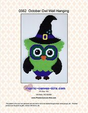 October/Halloween Witch Owl Wall Hanging-Plastic Canvas Pattern or Kit