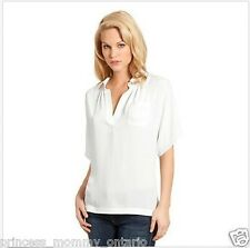 GUESS BY MARCIANO Blouse Shirt Loose Top Short Sleeve White Size XS