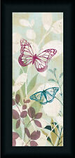 Fluttering Panel I Butterfly Vintage Retro Framed Art Print Wall Décor Picture
