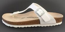New Birkenstock Gizeh Classic Sandals - White -  Made In Germany