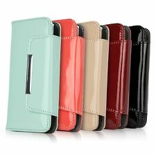 BoxWave Luxurious Genuine Patent Leather Wallet Clutch Card Case - Apple iPhone