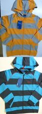 BOYS GIRLS KIDS REEBOK STRIPED ZIP ZIPPER HOODIE HOODED SWEAT JACKET