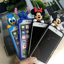 Cute cartoon Disney minnie mickey Stitch Rubber case cover for iphone7 6 6S plus