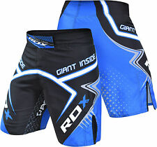 RDX MMA Shorts Grappling UFC Kick Boxing Mens Muay Thai Cage Fight Trunks R7U CA