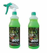 2 x Pro-green Mountain Bike Cycle MTB Cleaner Wash 2 x 1 Litre Trigger