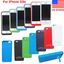 Portable External Power Bank Backup Battery Charger Case iPhone 5/5S US Stock
