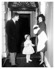 1961 Photo Of President John F. Kennedy With Family At The White House