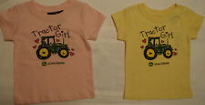 JOHN DEERE Tractor Girl 12 18 24 Month 2T Choice Short Sleeve Shirt Top NWT