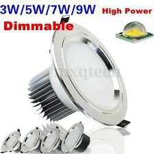 3W 7W 9W 12W 15W LED Downlight Ceiling Recessed Light Bulb Lamp 85-265V + Driver