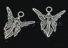 New 10/40/200pcs Antique Silver Beautiful Angel Jewelry Charms Pendant 20x19.5mm