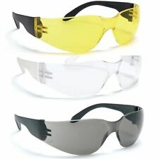 BARATEC WORK SAFETY SPECS SPECTACLES GLASSES CLEAR YELLOW SMOKE LENS NEW
