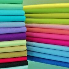 FQ or METRE - DEVON - PLAIN SOLID 100% PREMIUM PURE COTTON POPLIN FABRIC