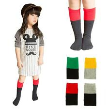 1 Pair fashion Baby Girls Boys Knee High Cotton Socks Kids Cute Cartoon Socks
